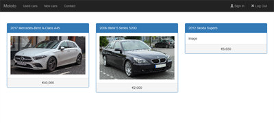 Mototo (A website to find the exact car...